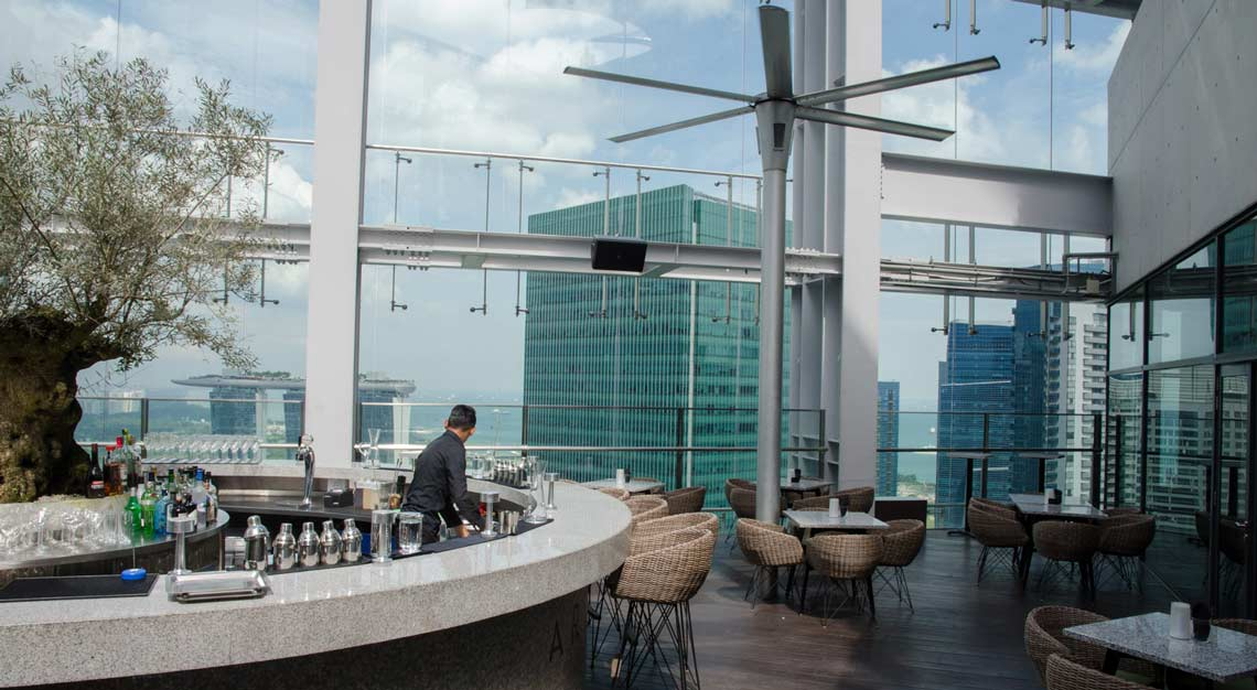 Restaurants in Singapore with a view -