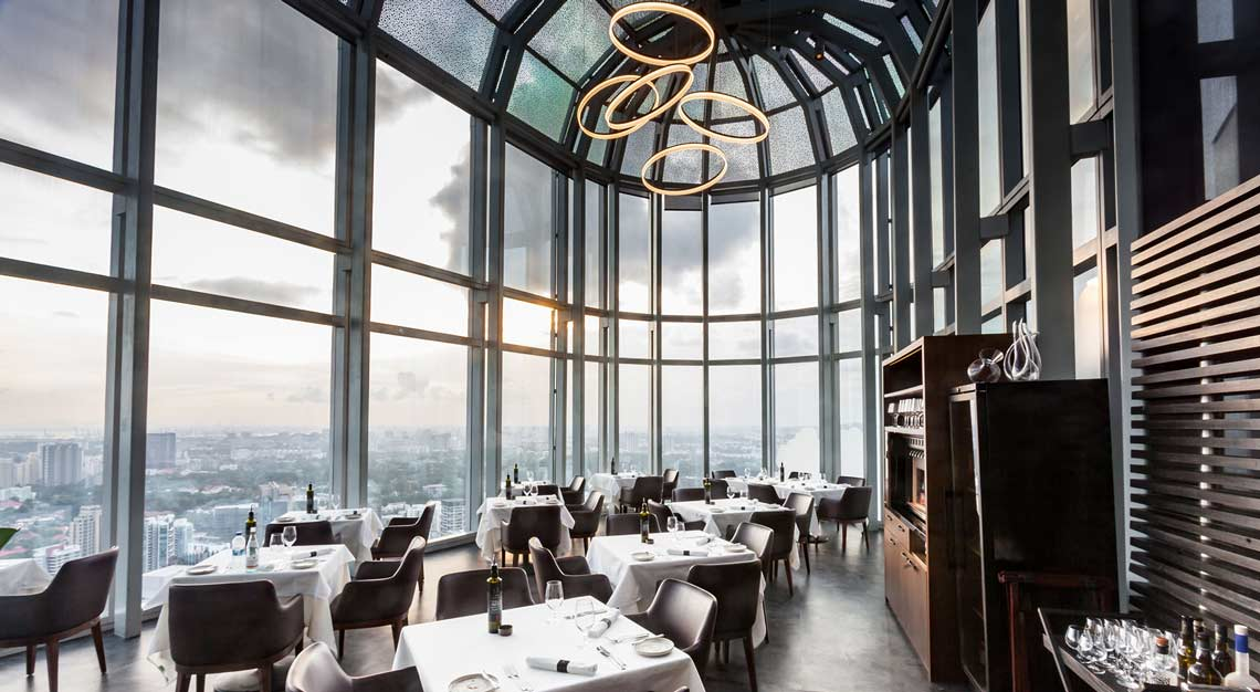 Restaurants in Singapore with a view - Salt Grill & Sky Bar