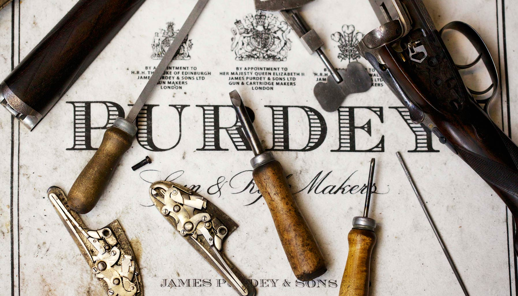 Hands up: These Purdey guns are crafted to be admired, not used