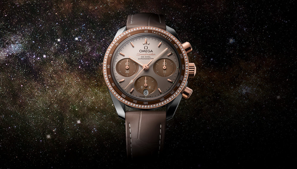 "Omega Speedmaster 38mm ""Cappuccino"" in 18k Sedna gold"