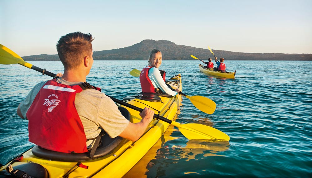 Kayaking to Rangitoto Island, Auckland