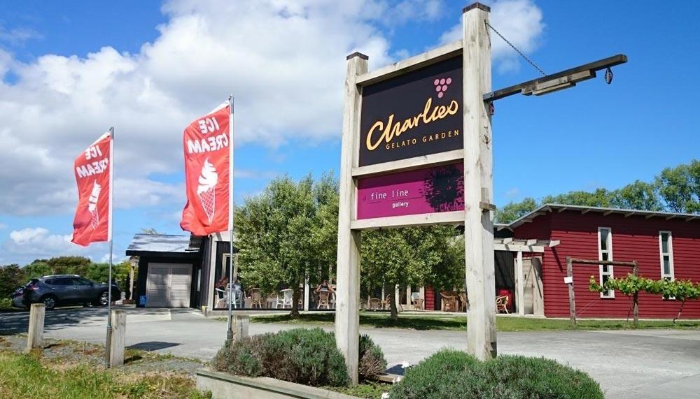 Charlie's Gelato Garden, Matakana, New Zealand