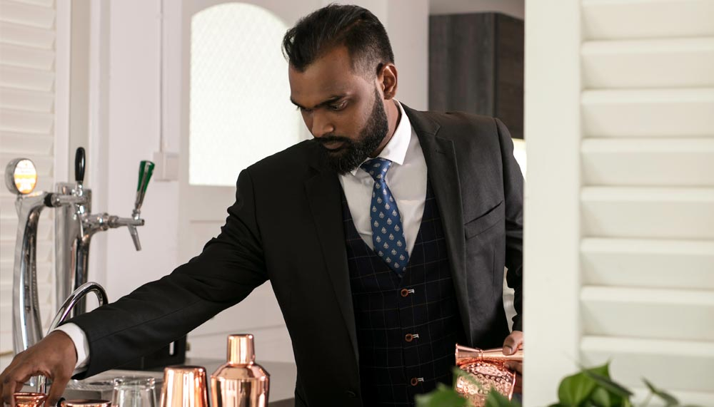 Yadhaven Santheran, mixologist at The Summerhouse, Seletar