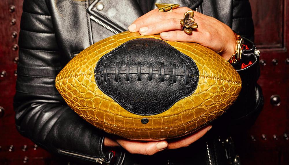 Crocodile Leather Football by Williamson