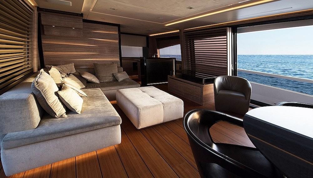 Interior of luxury yachts