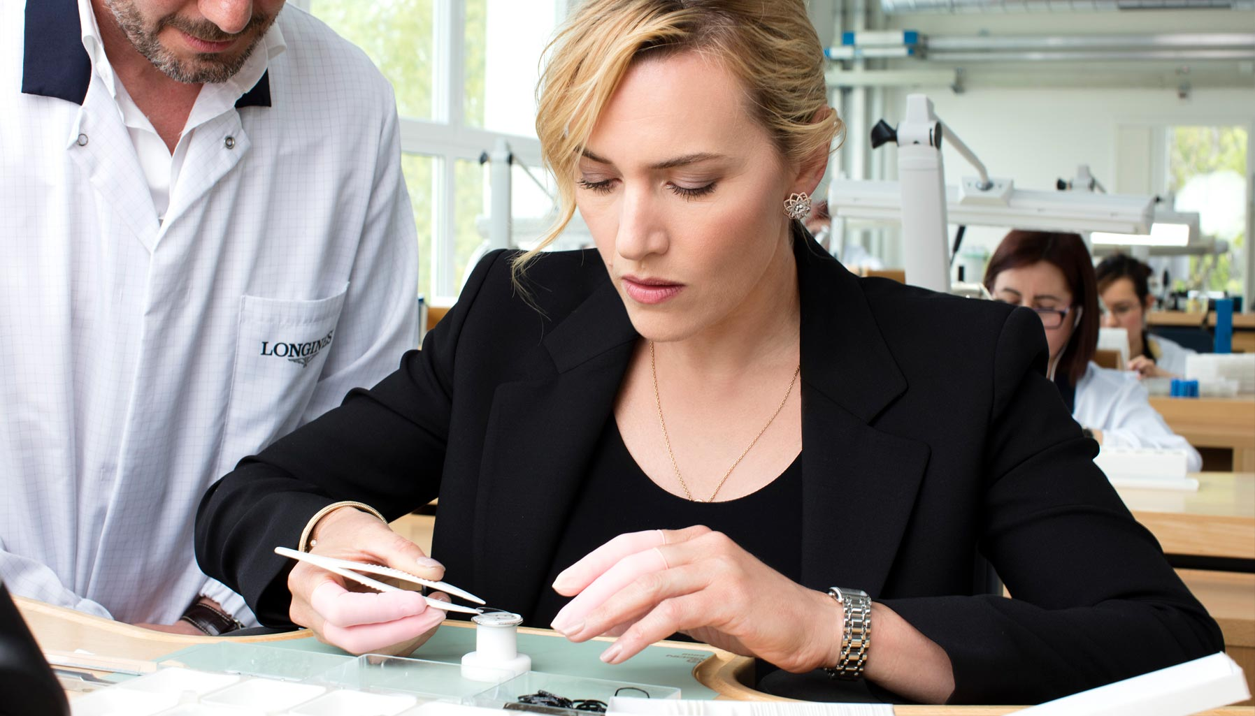 Kate Winslet at the Longines headquarters