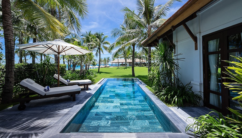 Poolside villas in Vietnam