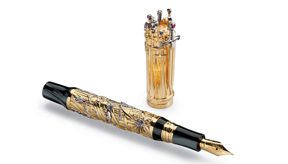 Montegrappa Iron Throne fountain pen in 18k gold