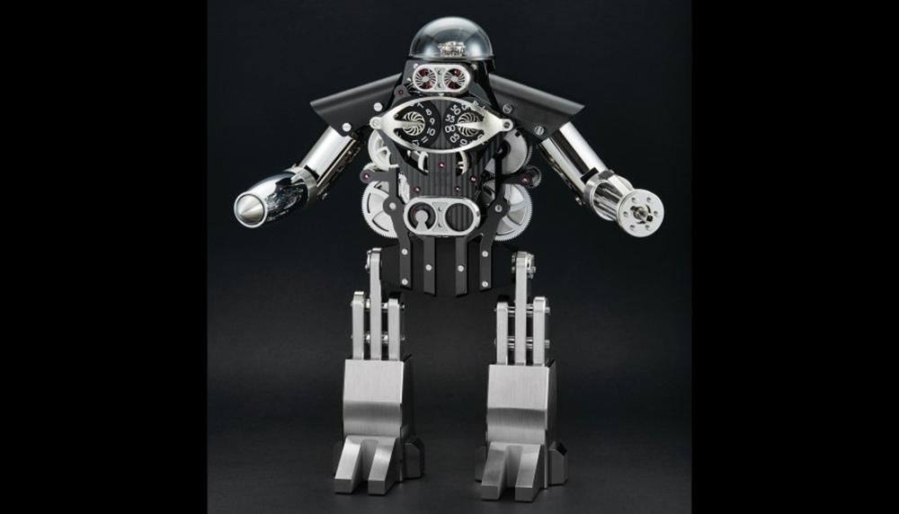 MB&F Melchior Dark and light robot clock