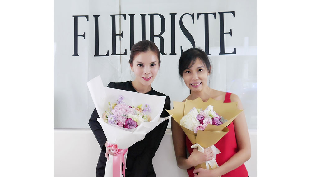Founders Sarah Ching and Joan Chua, Fleuriste