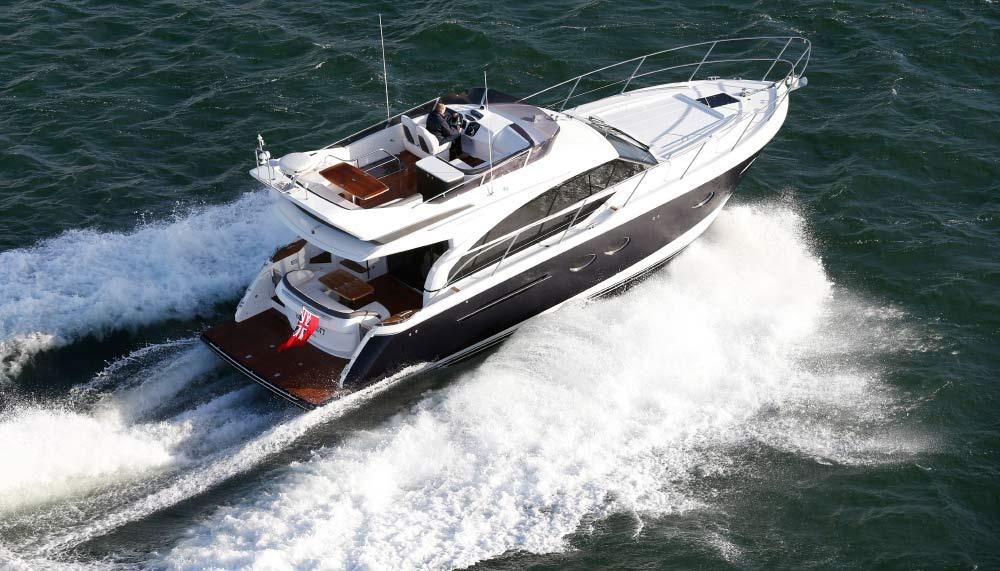 Princess Yachts' P62 master suite