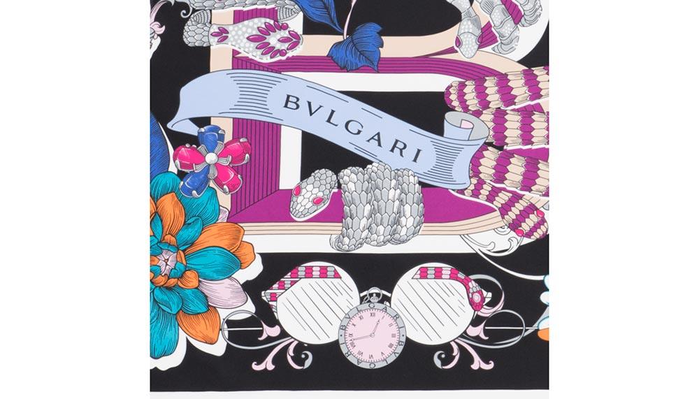 Black Bulgari Tattoo scarf