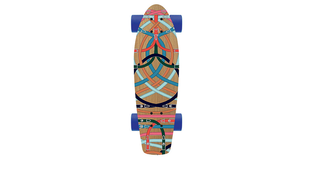 Hermes Skateboard in Cavalcadour Printed Vosges Maple