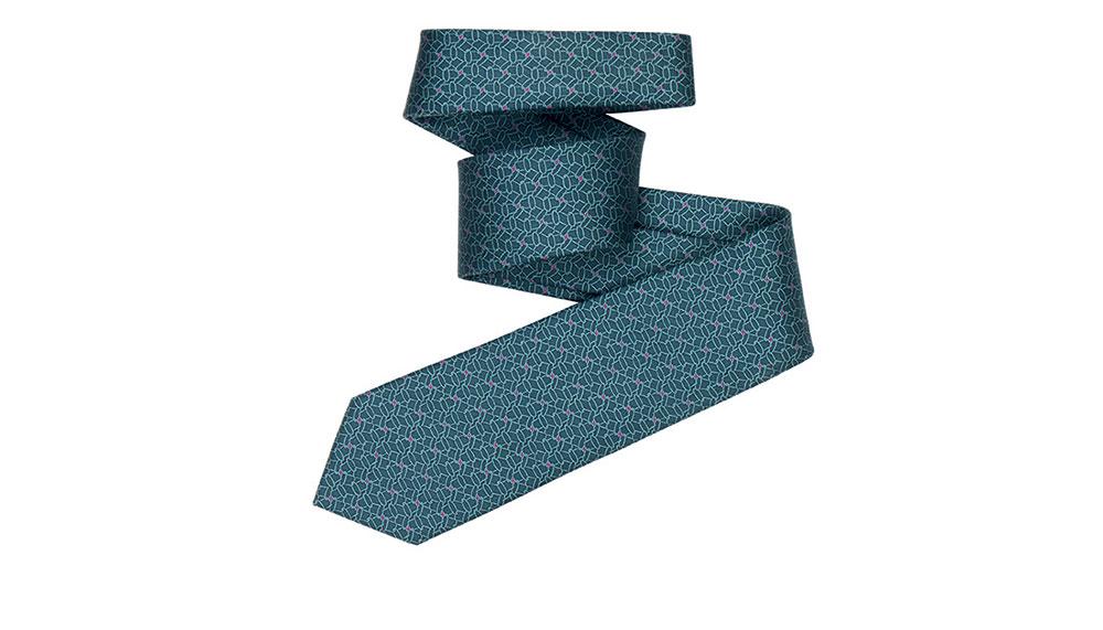 Hermes 7cm tie in silk twill