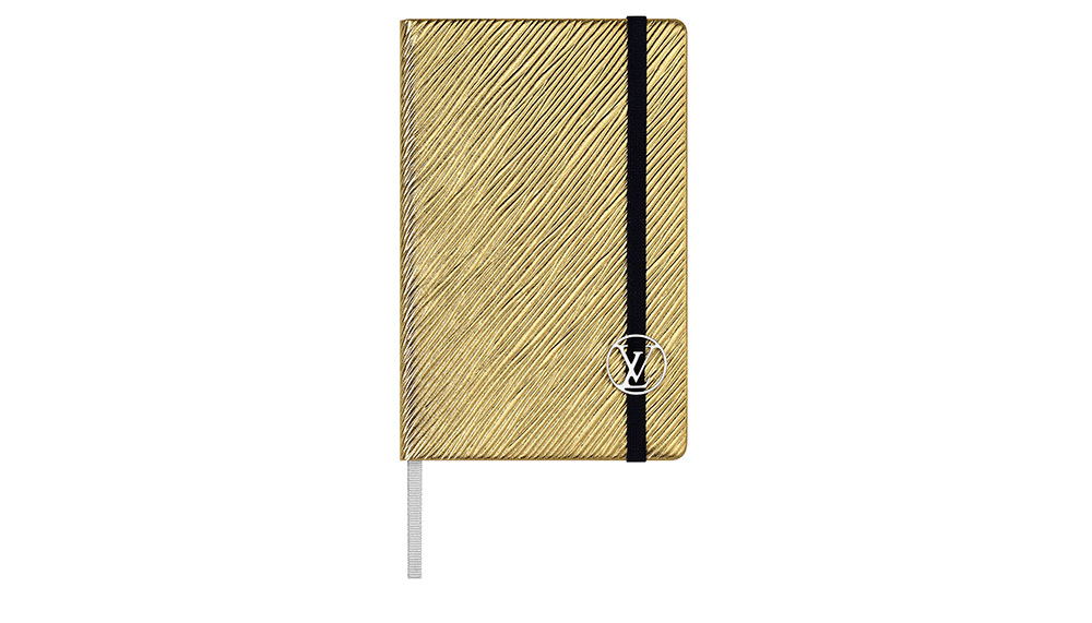 Louis Vuitton Epi Leather Notebook in gold