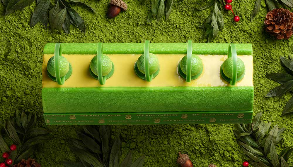 Green Tea Log Cake