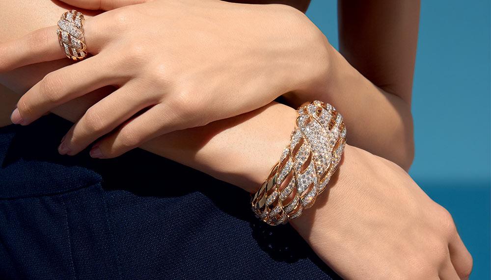 Chanel Golden Braid cuff