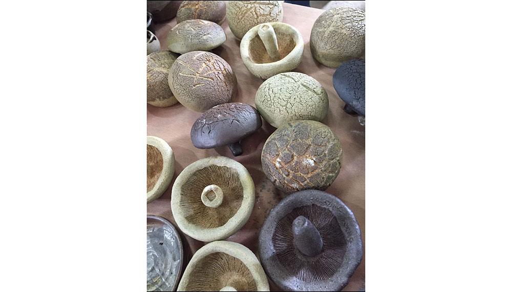 Ceramic art, mushrooms
