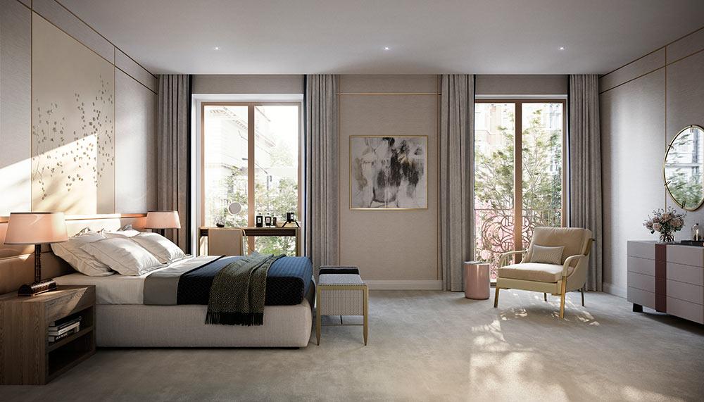 Spacious master bedrooms, Twenty Grosvenor Square