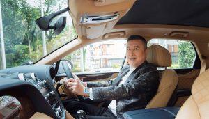 Jeffrey Piak in his Bentley Bentayga