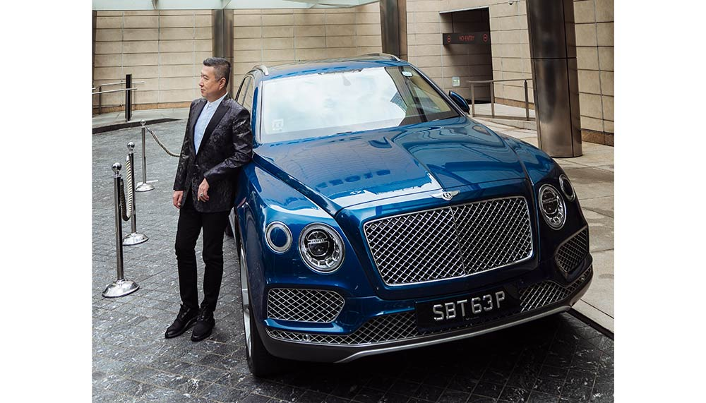 Jeffrey Piak with his Bentley Bentayga
