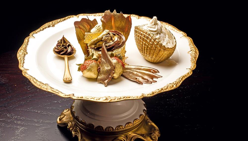 24k gold desserts