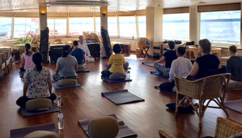 Meditation classes on the cruise