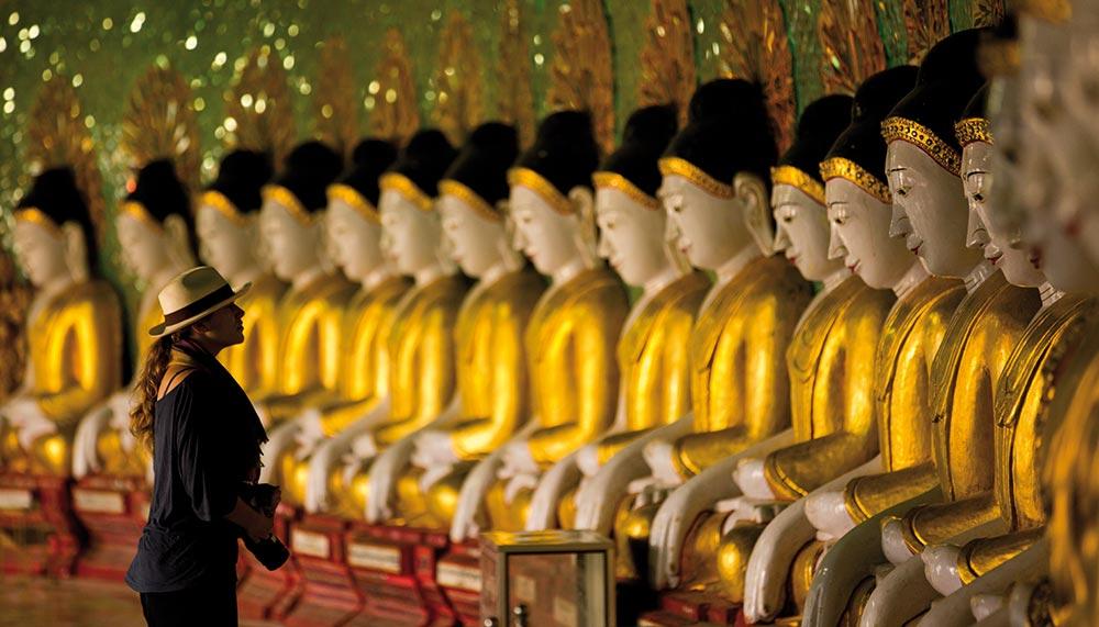 Buddhists sculptures in Myanmar