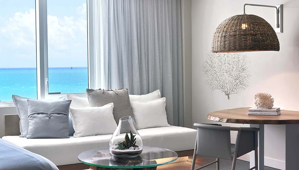 Beachside hotel room