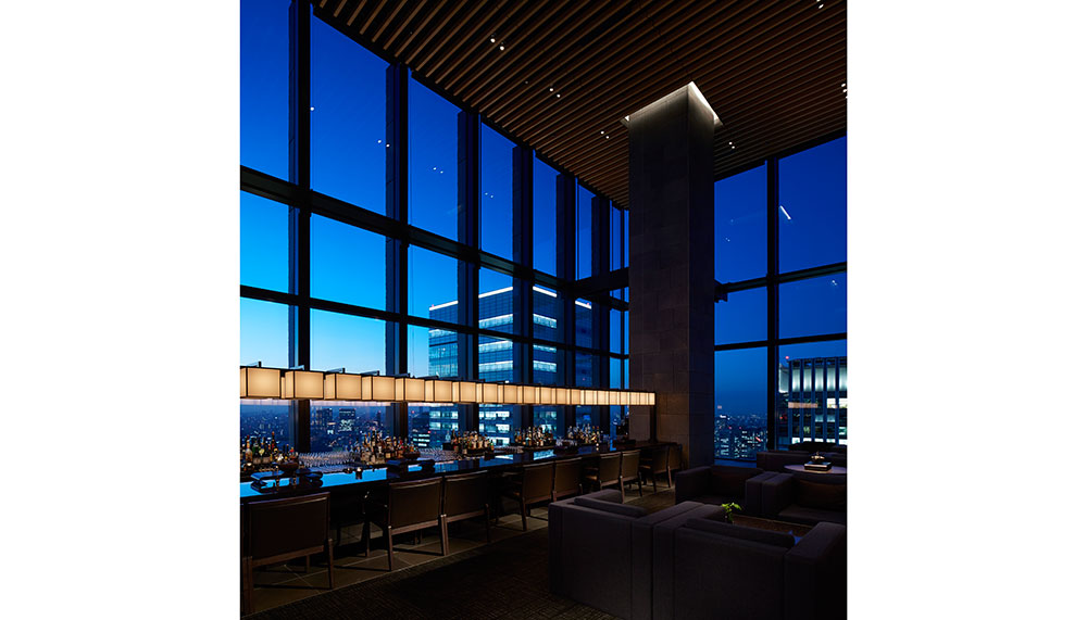 View from Aman Tokyo's Black Bar