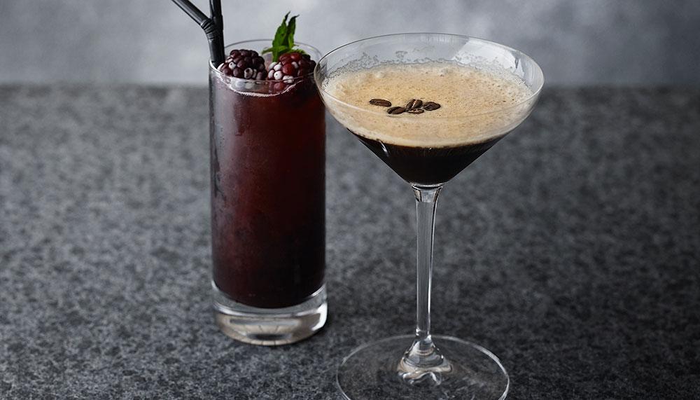 Cocktails at Aman Tokyo's Black Bar