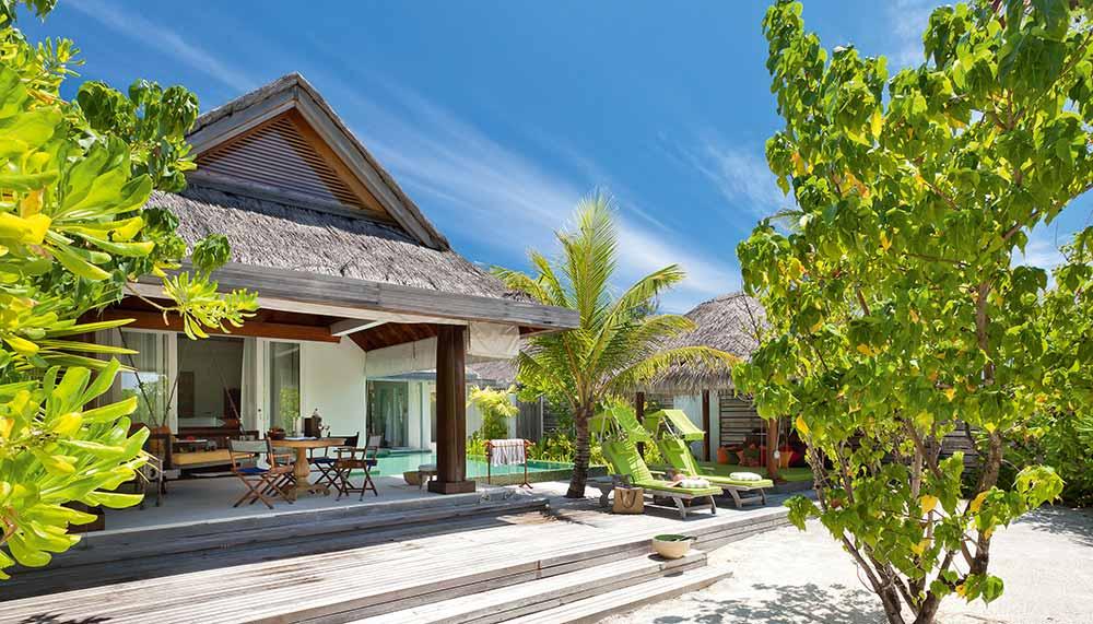 Beach villas at The Maldives