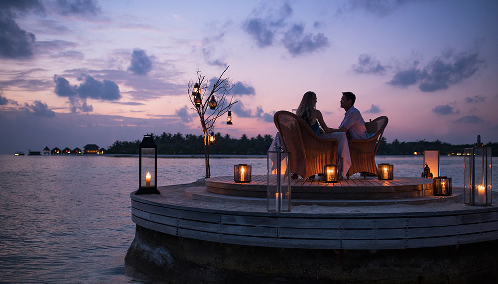 Dinner in The Maldives