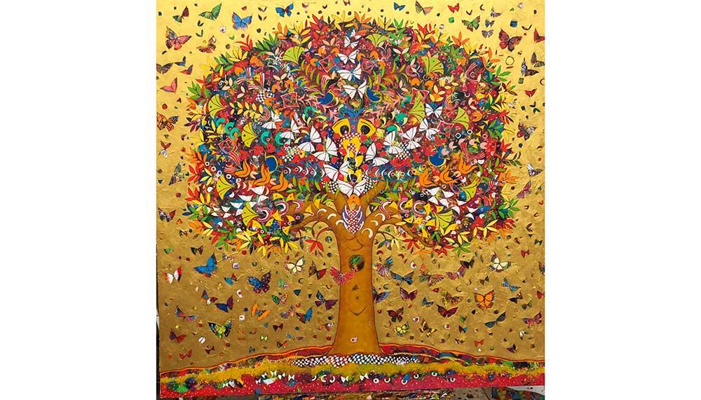 Gold Tree by Jean-Francois Larrieu
