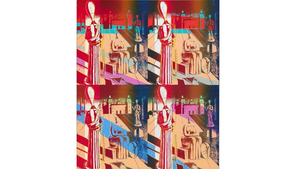 Disquieting Muses (After de Chirico) by Andy Warhol