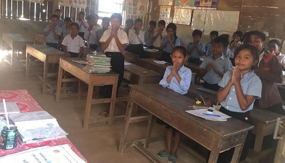 Cambodia, Ta Snae Primary school