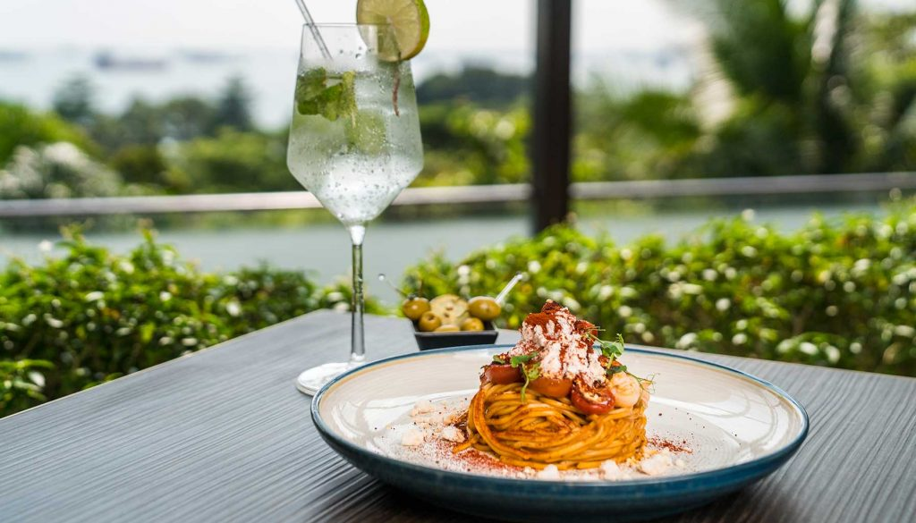 Italian cuisine at The Cliff, Sofitel Sentosa Singapore