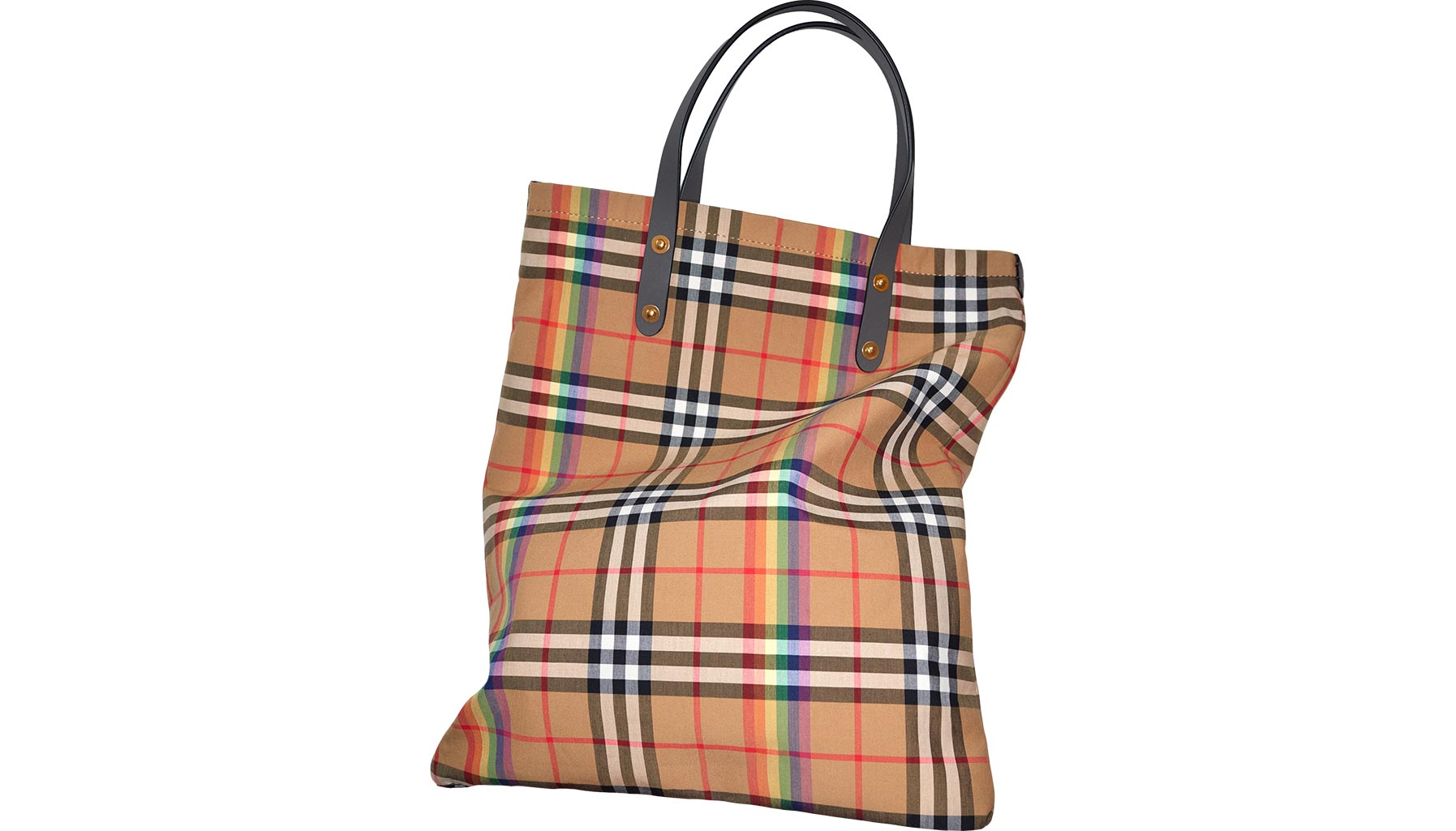 Burberry, Large Rainbow Vintage Check Shopper