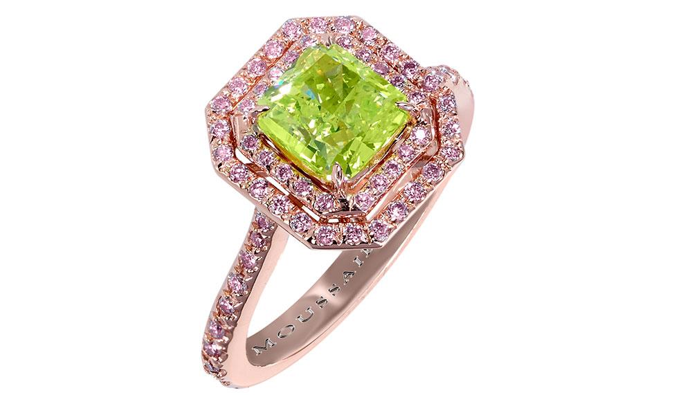 Natural Fancy Vivid Yellow Green diamond