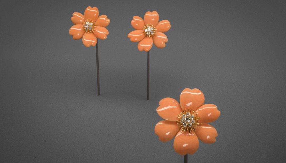 Van Cleef & Arpels Rose de Noel earrings