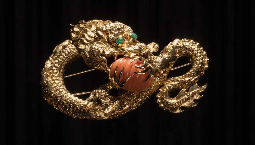 Van Cleef & Arpels dragon clip