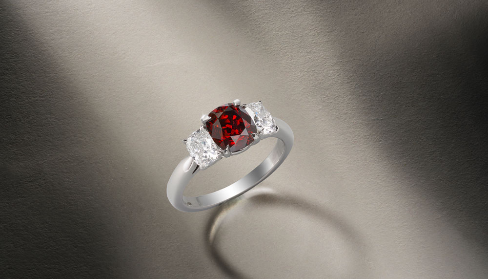 4.01cts Burmese 'Pigeon's Blood' ruby and diamond ring