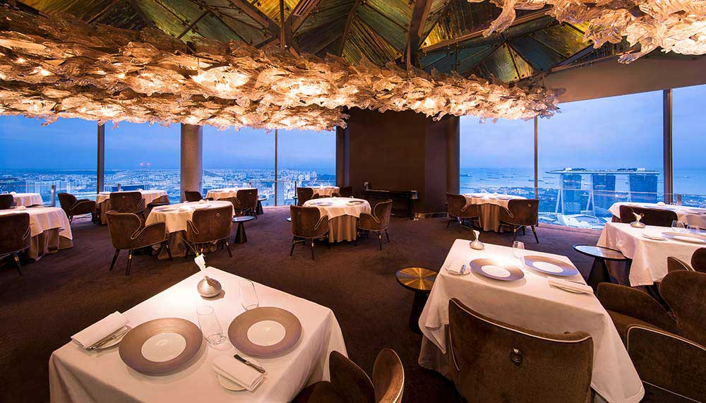 Restaurants in Singapore with a view - Jaan - Swissotel The Stamford