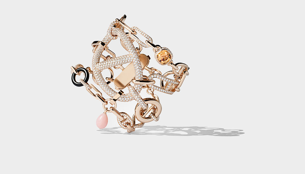 Hermes Enchainements libres fine jewellery collection, Grand Jete Bracelet