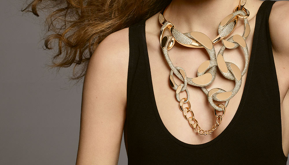 Hermes Enchainements libres fine jewellery collection, Fusion Necklace