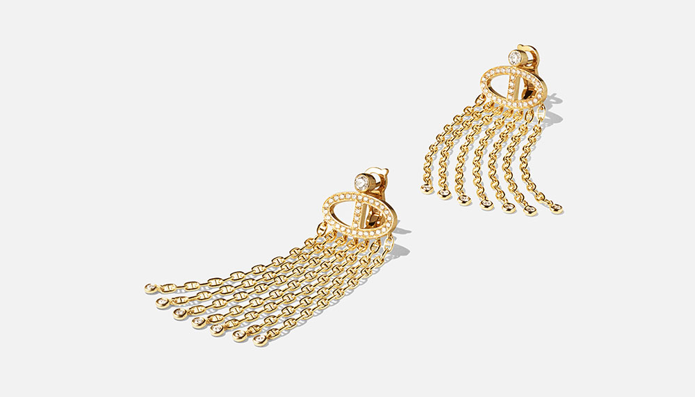 Hermes Enchainements libres fine jewellery collection, Voltige Earrings