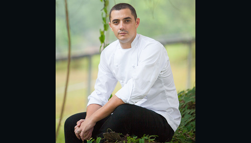 Julien Royer, chef and co-owner of Two-Michelin-starred restaurant, Odette