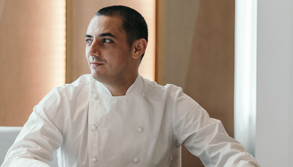 Julien Royer, Chef-owner of two-Michelin-starred Odette at National Gallery