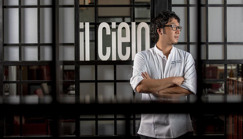 chef Yohhei Sasaki, Il Cielo at Hilton Singapore