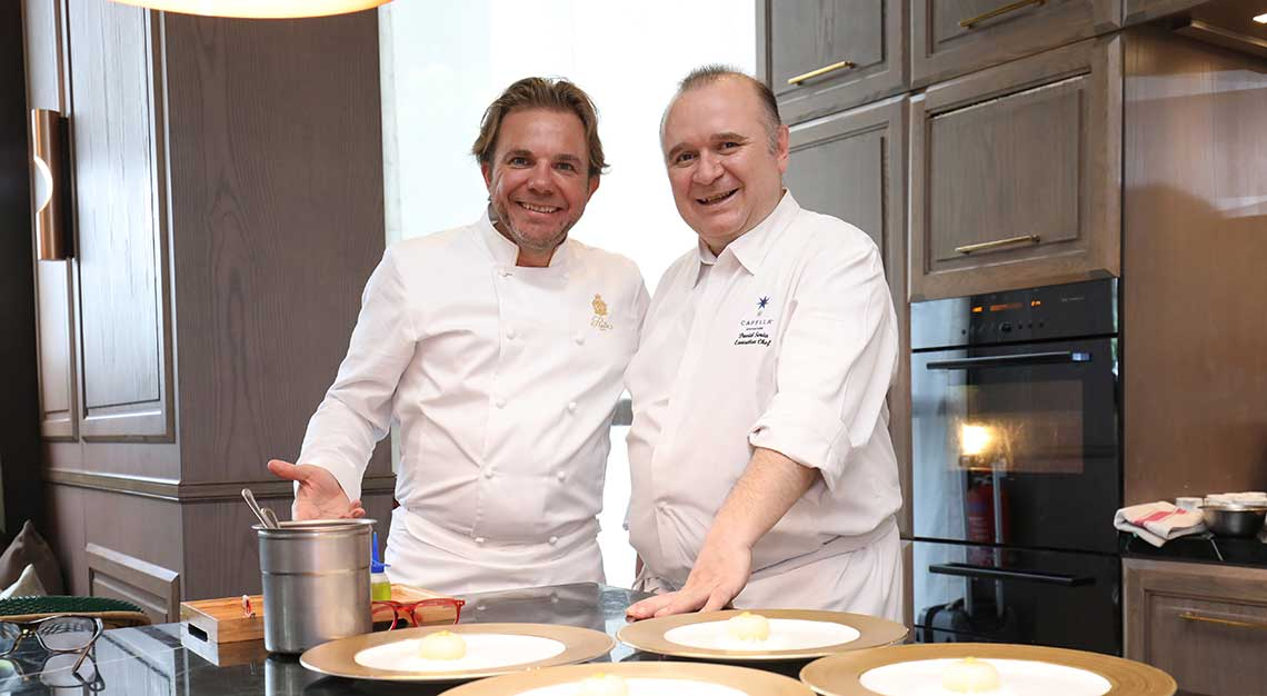 Chef Nicolas Sale and Chef David Senia of Capella Singapore and Ritz Paris